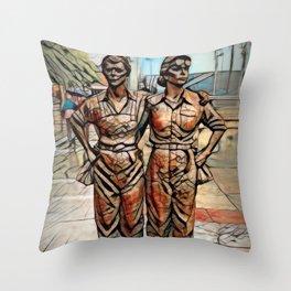 Women of Steel, Sheffield, UK Throw Pillow