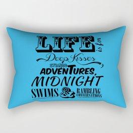 Life is Rectangular Pillow