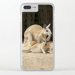 Cool Australian Kangaroos Clear iPhone Case