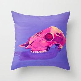 Purple Desert Skull Throw Pillow
