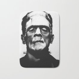 Portrait of Frankenstein - Boris Karlof Bath Mat