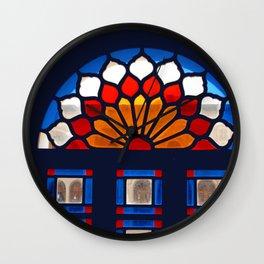 Persian Stained Glass Ornamental Window Shiraz Persia Iran Wall Clock