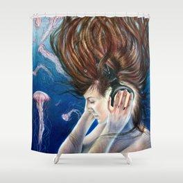 Deep Sounds Shower Curtain