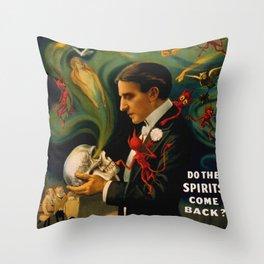 Thurston The Great Magician - Spirits Throw Pillow