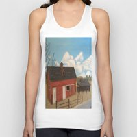 rustic Tank Tops featuring Rustic Barn by McNallieGalleries