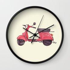 Vespa - ballpoint pen Wall Clock