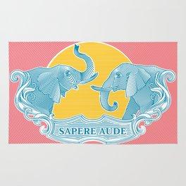 Two Elephants Rug