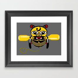 Hei Tiki Bee Toy Framed Art Print