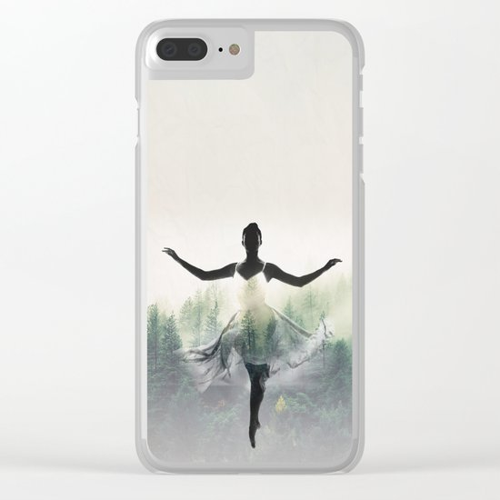 Forest Dancer Clear iPhone Case