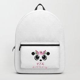 Panda Girl 4th Birthday 4 Years Panda Costume Gift Backpack
