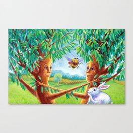Cherry Tree Couple Canvas Print