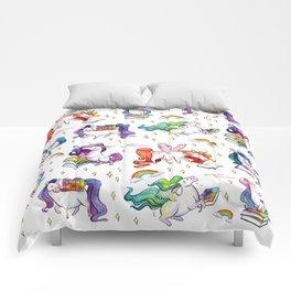 Reading Unicorn Pattern Comforters