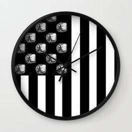 US MiniFigure Flag - Vertical Wall Clock