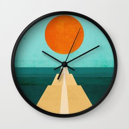 The Road Less Traveled Wall Clock