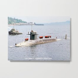 USS JOHN C. CALHOUN (SSBN-630) Metal Print