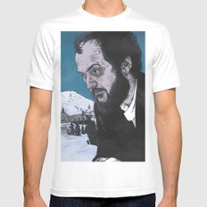 Stanley Kubrick White MEDIUM Mens Fitted Tee
