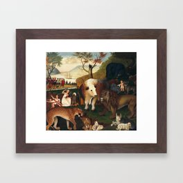 The Peaceable Kingdom, Edward Hicks Framed Art Print