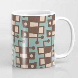 Mid Century Modern Abstract 212 Sage Green and Brown Coffee Mug