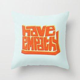 Blocky Have Empathy Throw Pillow
