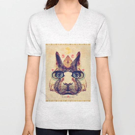 Rabbit Heart Unisex V-Neck