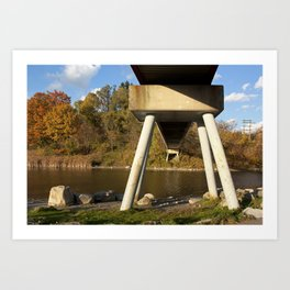 Rouge River Bridge Art Print