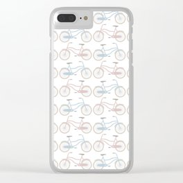Vintage Bicycle Pattern Clear iPhone Case