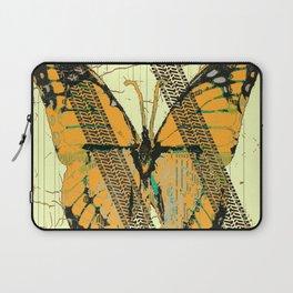 ROADKILL MONARCH BUTTERFLY  & TIRE TRACKS ART Laptop Sleeve