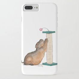 HippoCat at His Post iPhone Case