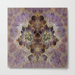 Amethyst Geode Wall Art Metal Print