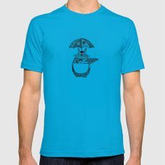Happy Totoro Mens Fitted Tee LARGE Teal