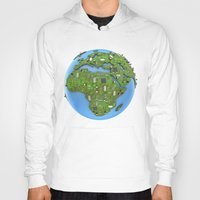 data Hoodies featuring Data Earth by GrandeDuc