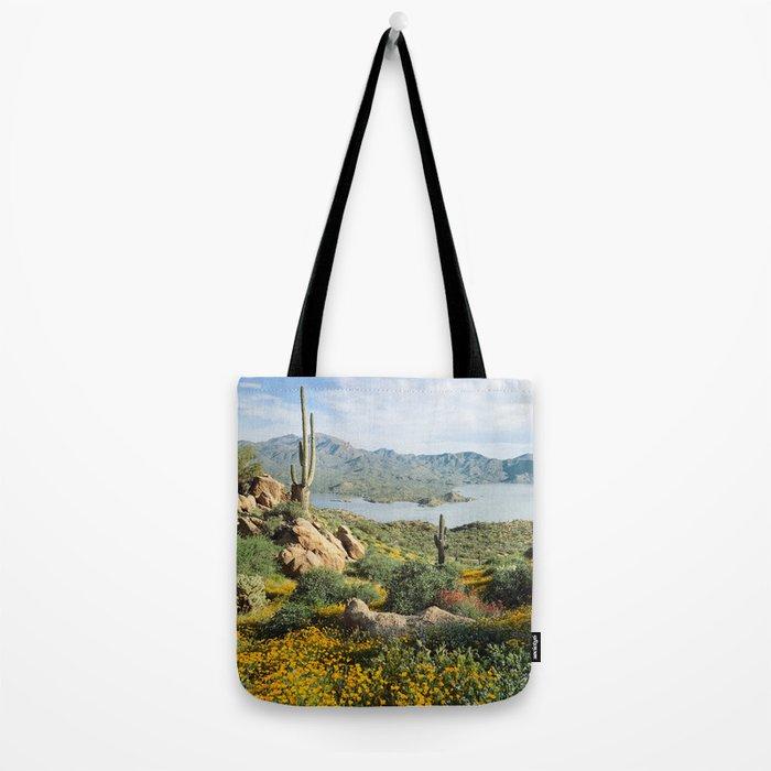 Arizona Blooms Tote Bag