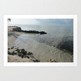 Your own private beach...  Art Print