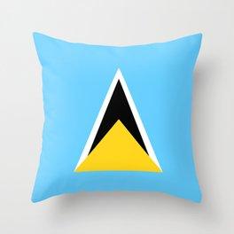 Saint Lucia country flag Throw Pillow