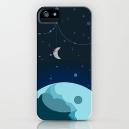 Moon and Planet iPhone Case