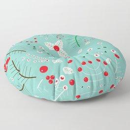 Mistletoe Acqua Floor Pillow
