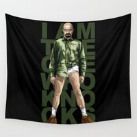 walter white Wall Tapestries featuring Walter White by Denis O'Sullivan
