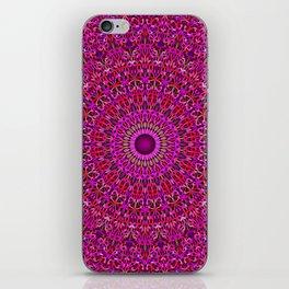 Deep Pink Garden Mandala iPhone Skin