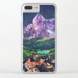 Amethyst Mountains Clear iPhone Case
