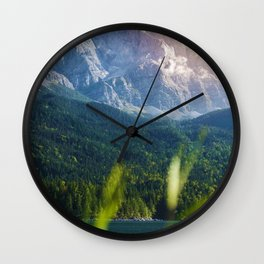 Grass Mountain View (Color) Wall Clock