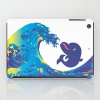 hokusai iPad Cases featuring Hokusai Rainbow & Babydolphin by FACTORIE