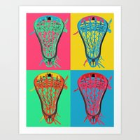 lacrosse Art Prints featuring Lacrosse BIG4 by YouGotThat.com
