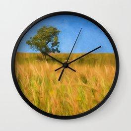 Windswept Tree Wall Clock