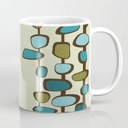 Mid Century Modern Baubles (teal) Coffee Mug