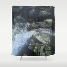 Ramapo Falls#2_painting Shower Curtain