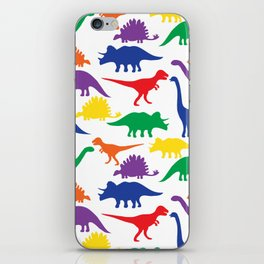 Dinosaurs - White iPhone Skin