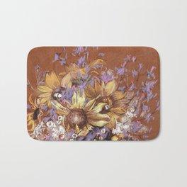 Sunflower coctail Bath Mat