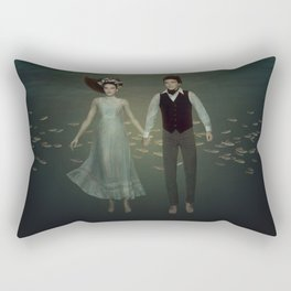 Underwater Couple Rectangular Pillow
