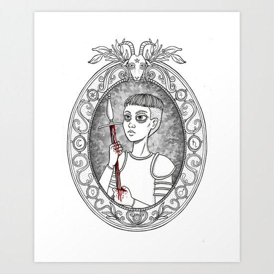 Juana de Arco Art Print