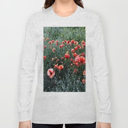 Poppies In A Field Long Sleeve T-shirt